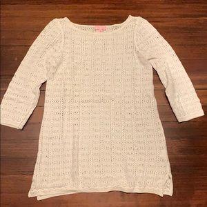 Lily Pulitzer knit/crochet dress.